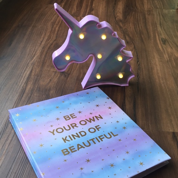 Other - Decorative Unicorn Light & Drawing Notebook